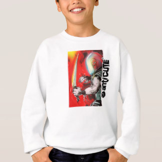 worm head warrior design by anticute sweatshirt