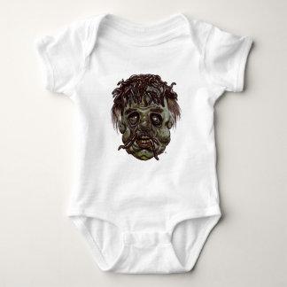 worm head zombie baby bodysuit