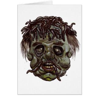 worm head zombie card