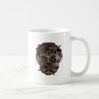 worm head zombie coffee mug