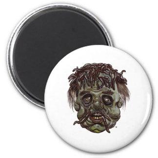worm head zombie magnet