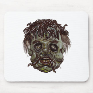 worm head zombie mouse pad