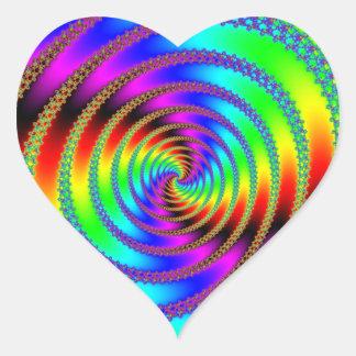 Worm Hole Heart Sticker