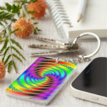 Worm Hole Rectangle Acrylic Keychain