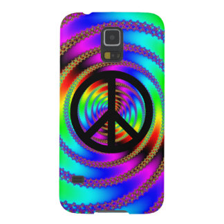 Worm Hole with Black Peace Sign Case For Galaxy S5