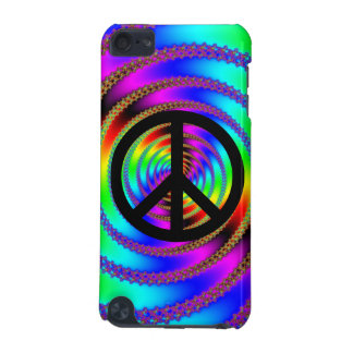 Worm Hole with Black Peace Sign iPod Touch (5th Generation) Cases