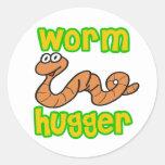 Worm Hugger Classic Round Sticker
