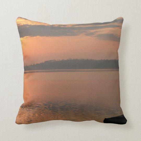 worm sunset throw pillow