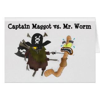 Worm vs Captain Maggot Greeting Card