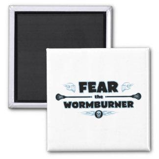 Wormburner - azul imán de frigorífico