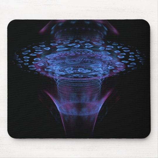 Wormhole Abstract Fractal Design Mouse Pad
