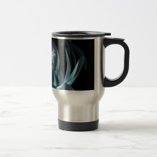 Wormhole floral del fractal taza