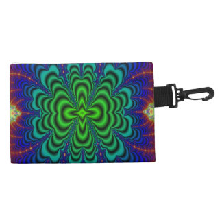 Wormhole Fractal Neon Green Space Tubes Accessories Bag