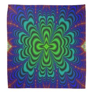 Wormhole Fractal Neon Green Space Tubes Bandana