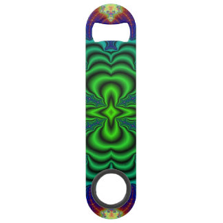 Wormhole Fractal Neon Green Space Tubes Bar Key