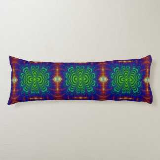Wormhole Fractal Neon Green Space Tubes Body Pillow