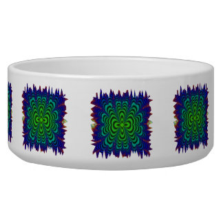 Wormhole Fractal Neon Green Space Tubes Bowl