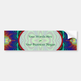 Wormhole Fractal Neon Green Space Tubes Bumper Sticker