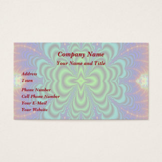Wormhole Fractal Neon Green Space Tubes Business Card