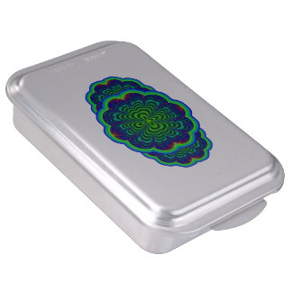 Wormhole Fractal Neon Green Space Tubes Cake Pan
