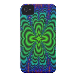 Wormhole Fractal Neon Green Space Tubes iPhone 4 Case-Mate Cases
