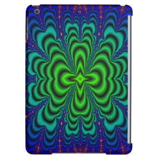 Wormhole Fractal Neon Green Space Tubes Case For iPad Air