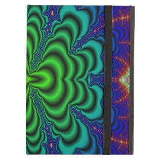 Wormhole Fractal Neon Green Space Tubes Cover For iPad Air