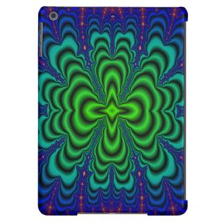 Wormhole Fractal Neon Green Space Tubes iPad Air Case