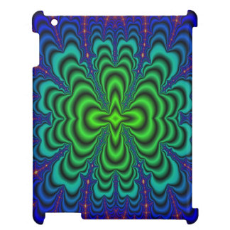Wormhole Fractal Neon Green Space Tubes iPad Covers