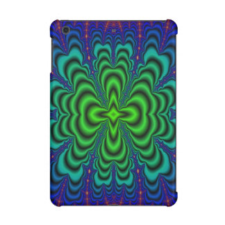 Wormhole Fractal Neon Green Space Tubes iPad Mini Case