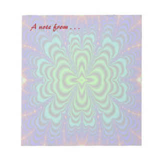 Wormhole Fractal Neon Green Space Tubes Note Pad