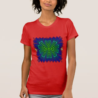 Wormhole Fractal Neon Green Space Tubes T-Shirt