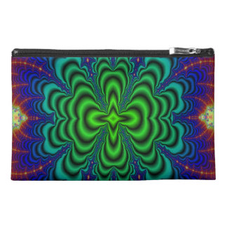 Wormhole Fractal Neon Green Space Tubes Travel Accessories Bags