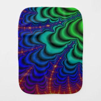 Wormhole Fractal Space Tube Baby Burp Cloth