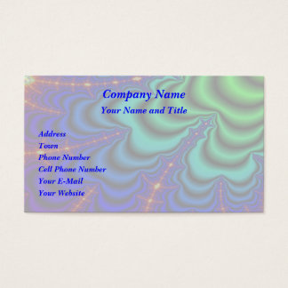 Wormhole Fractal Space Tube Business Card