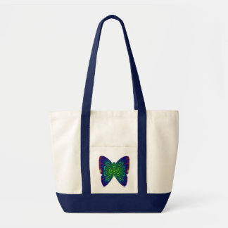 Wormhole Fractal Space Tube Butterfly Impulse Tote Bag