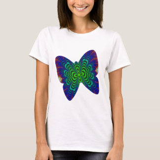 Wormhole Fractal Space Tube Butterfly T-Shirt