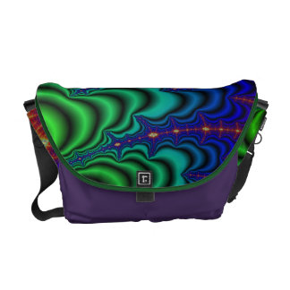 Wormhole Fractal Space Tube Courier Bag
