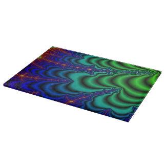 Wormhole Fractal Space Tube Cutting Board