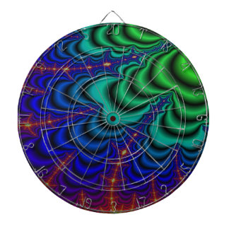 Wormhole Fractal Space Tube Dart Boards