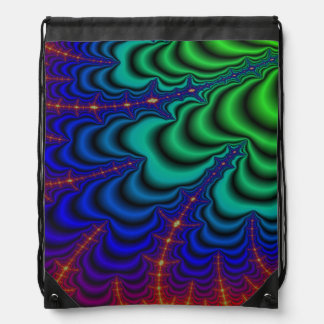 Wormhole Fractal Space Tube Drawstring Bag