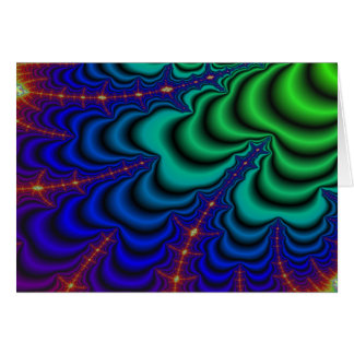 Wormhole Fractal Space Tube Greeting Card