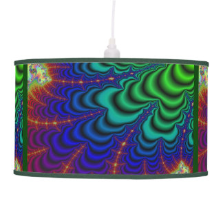 Wormhole Fractal Space Tube Hanging Lamp