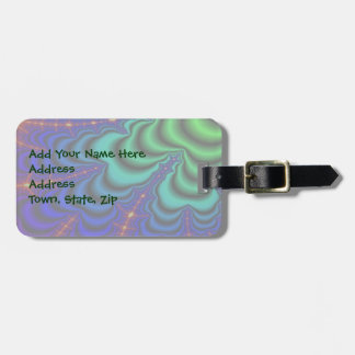 Wormhole Fractal Space Tube Luggage Tag