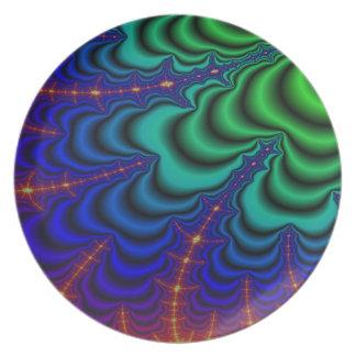 Wormhole Fractal Space Tube Melamine Plate
