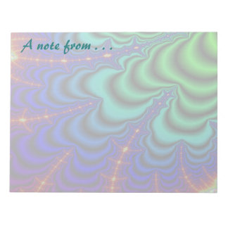 Wormhole Fractal Space Tube Notepad