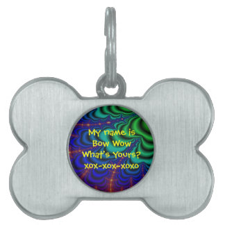Wormhole Fractal Space Tube Pet Name Tag