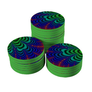 Wormhole Fractal Space Tube Poker Chip Set