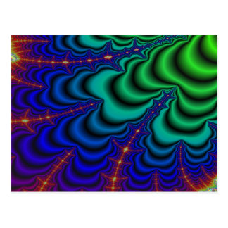 Wormhole Fractal Space Tube Postcard