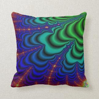 Wormhole Fractal Space Tube Throw Pillow